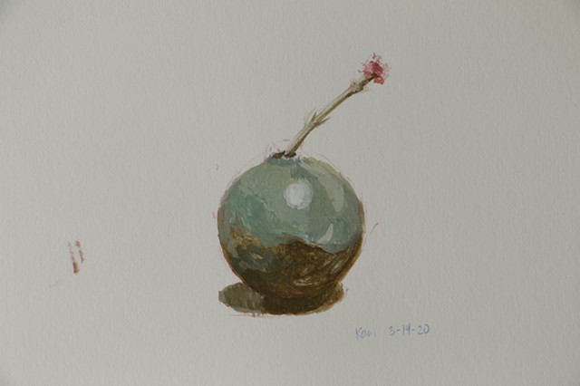 March 14/Dried Flower with Vase