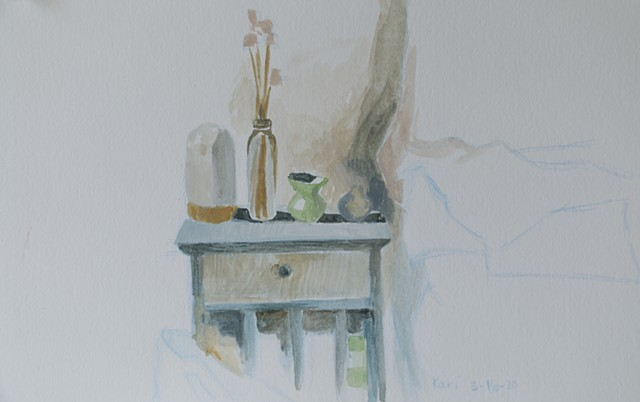 March 16/Still Life on Tiny Cabinet