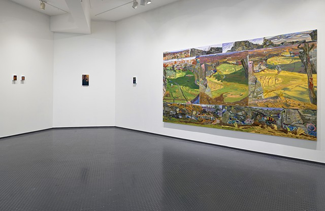 "Installation view of ""Survey, Quincy Quarries"", Laconia Gallery, BU MFA Thesis 2019, Boston"
