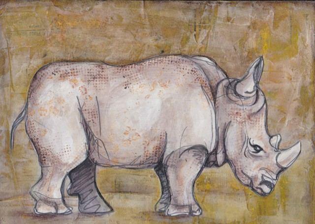Sharon's Rhinoceros, work of Sharon Stauffer