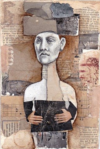 "Sharon Stauffer, ""Figure Collage 1"""