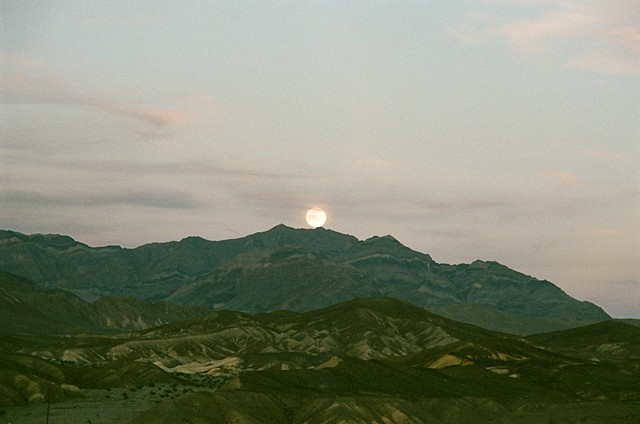 Moon from Zabriskie point