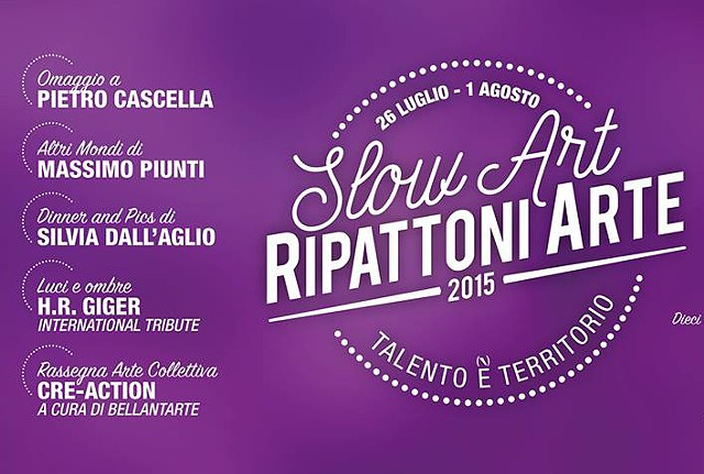 Slow Art -Ripattoni art  festival July26-August 1-2015