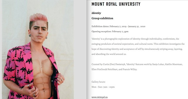 MOUNT ROYAL UNIVERSITY Identity Group exhibition