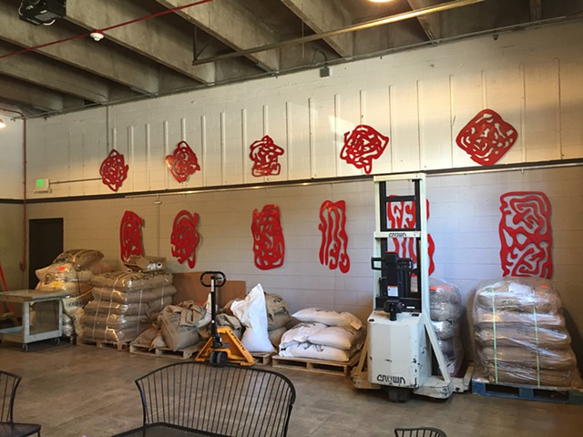 Installation at Sweet Bloom Coffee Roasters