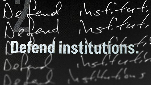Lesson 5 (Timothy Snyder): Defend Institutions