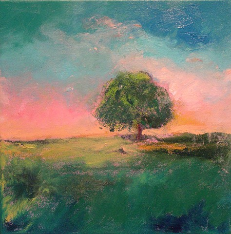 A Tree All Alone, 2017, oil on canvas, 12 x 12 inches (SOLD)
