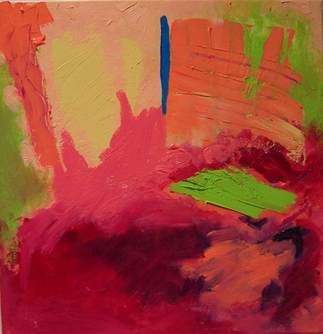 Red Pond, 2012, 18 x 18 in., oil on canvas (selected for Live Oak Juried Art Exhibition 2012, Leonard Lehrer, juror)