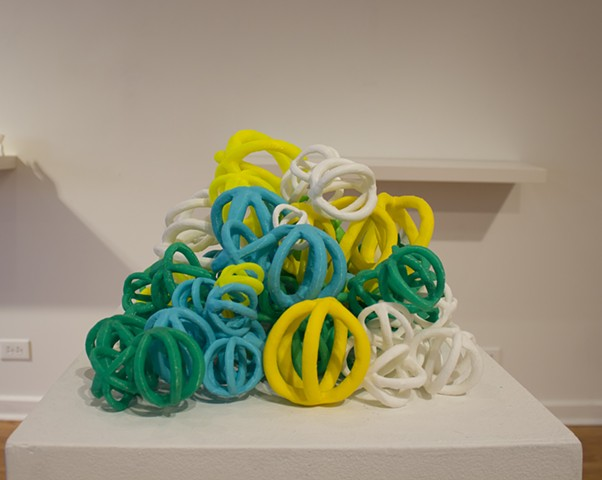 3-d printed, scan, clay PLA, Holly Holmes
