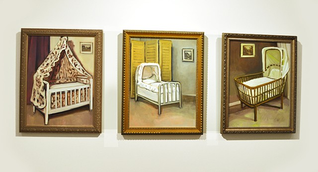 The Three Cradles (triptych) Installation Photograph