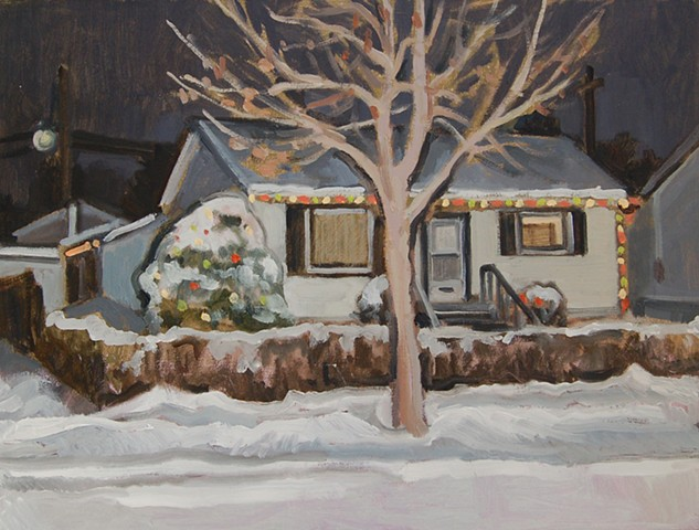 House Tree Winter SOLD