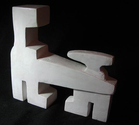 Plaster abstract sculpture