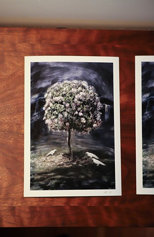 "View of ""Tree of Paradise 2"" printed"