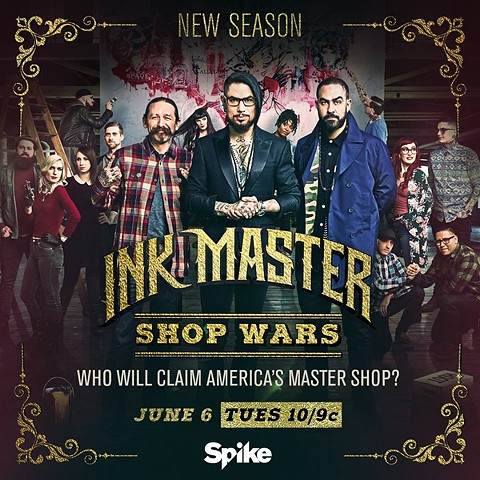 "SpikeTV's Inkmaster Season 9 ""Shop Wars"""
