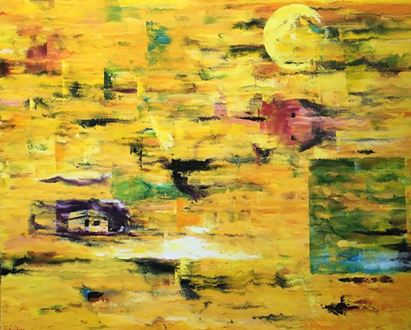 Abstract Oil Painting by Joel Barr Atlanta Artist