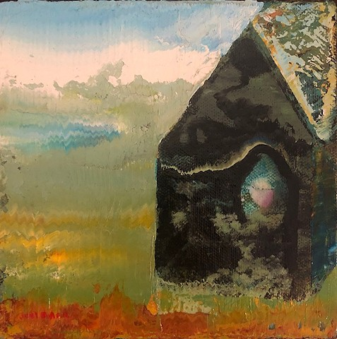 Surreal abstract of a house by Joel Barr Atlanta Artist