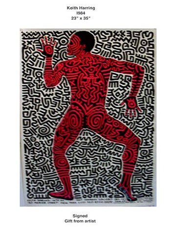 KEITH HARING POSTER 1984 SHAFRAZI GALLERY NYC