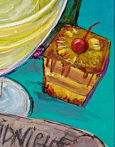 Pineapple upside down Detail