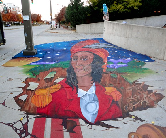 Collaborative Work Key Highway, Baltimore, MD Anamorphic Portrait of Tecumseh