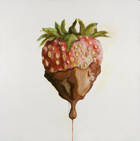chocolate covered strawberry painting
