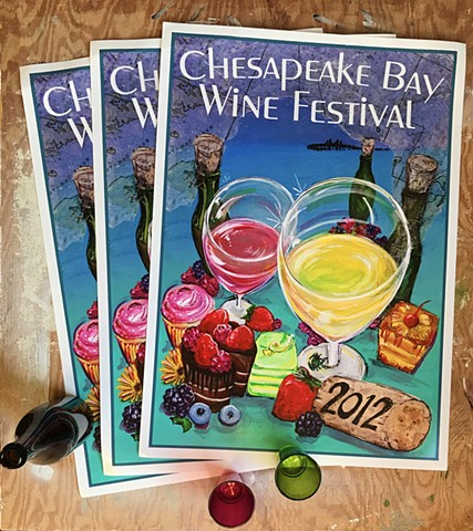 Signed Wine Festival Posters... a 2012 vintage.