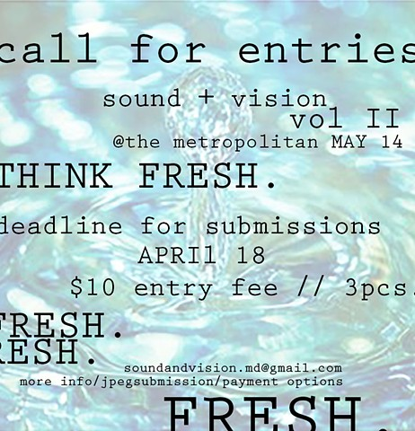 Sound+Vision vol. II Call for entries