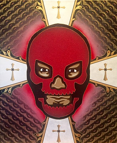 Luchdor , Lucha Libre mask painting