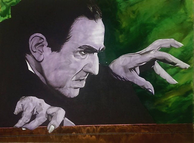 Bela Lugosi as Dracula tribute painting