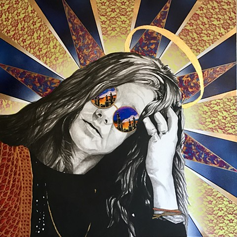 Janis Joplin tribute painting from the 27 club series