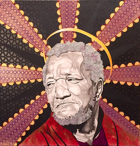 Redd Foxx as Fred Sanford tribute painting