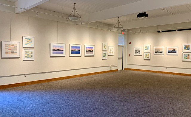"Gallery view of ""Pressing Matters"" solo exhibition"