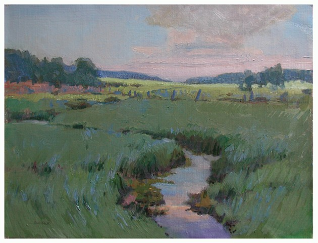 Mosser Road Marsh Plein Air sketch by Lauren Andreach.