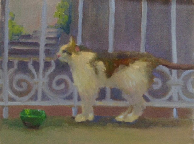 Plein Air Sketch in oil by Lauren Andreach.