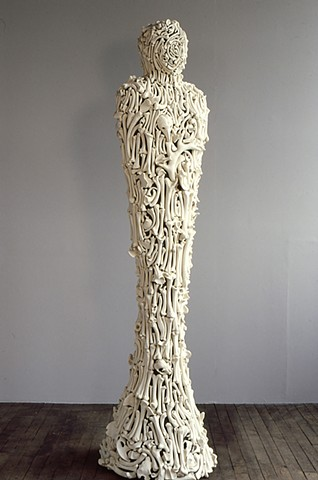 porcelain bones figurative sculpture by Ana England