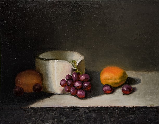 Porcelain Bowl and Fruit - SOLD