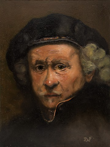 Study of Rembrandt's self portrait