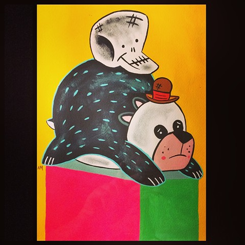 Panda,kawaii,painting,