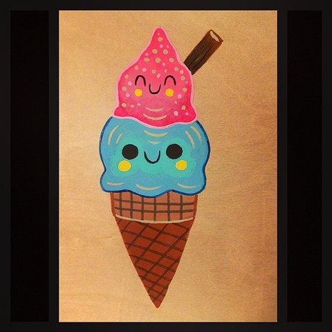 Kawaii ice cream,kawaii