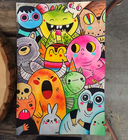 Kawaii,cute,monsters,kids art,