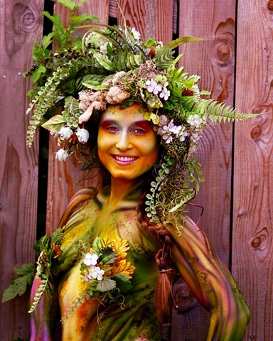 Forest Nymph Costume; Headdress and Body Embellishments