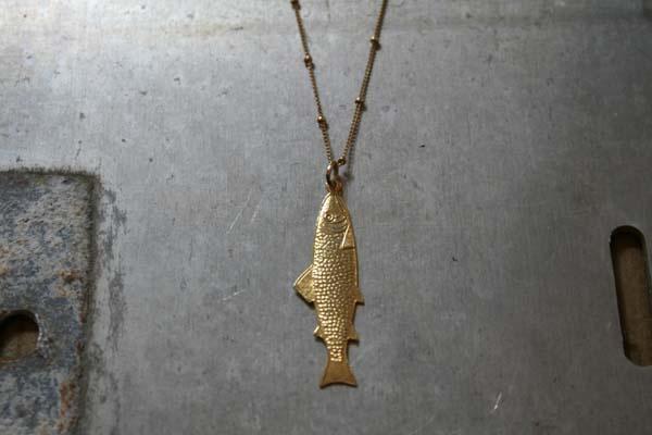 Art Deco Fish Necklace