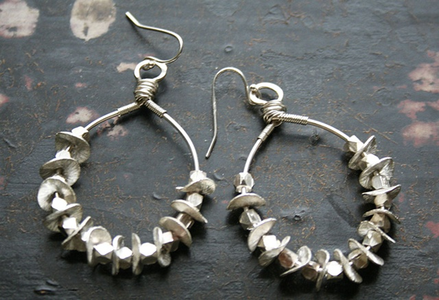 Hallie Earrings in Silver