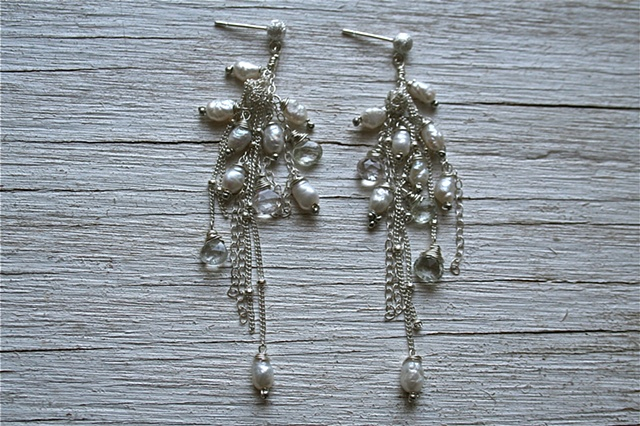 You will dazzle in these drippy, luxurious earrings!