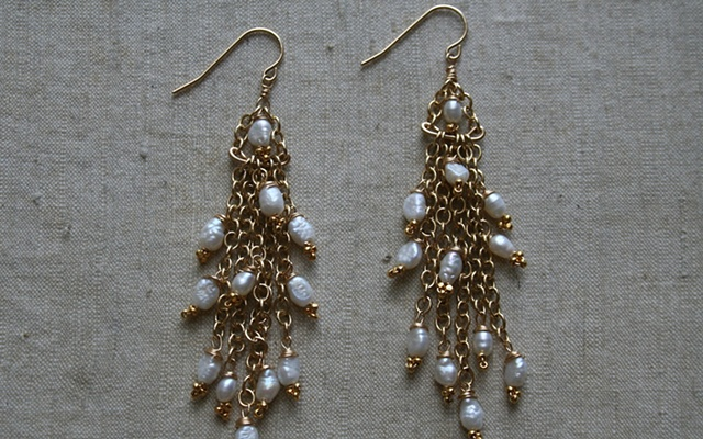 Pearl Water Fall Earring