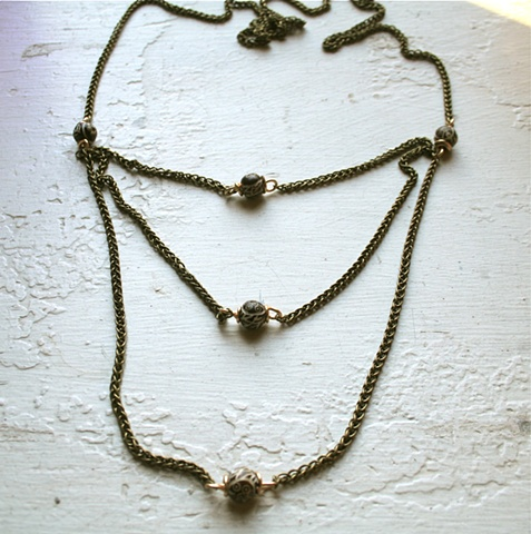 James Necklace with Vintage Beads