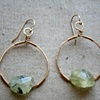 Lucky Earrings with Prehnite