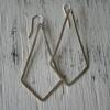 Hammered Diamond Shaped Earrings
