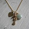 Gold Vermeil Seahorse Charm Necklace