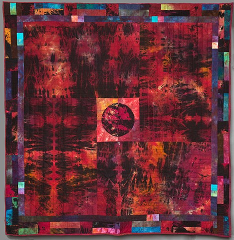 Art quilt made with hand dyed art cloth