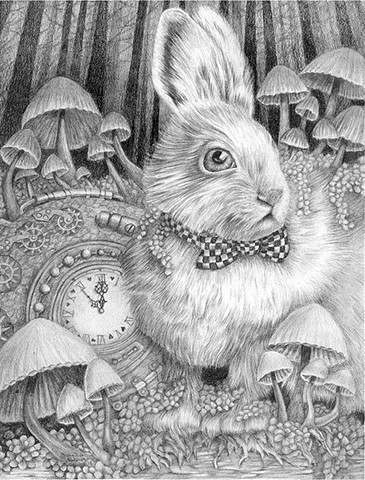 Alice in Wonderland Inspired White Rabbit